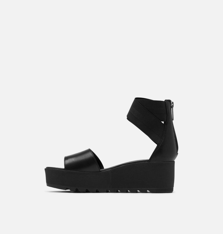 CAMERON™ FLATFORM ANKLE STRAP | 010 | 9 Womens Cameron™ Flatform Ankle Strap Wedge Sandal, Black, medial