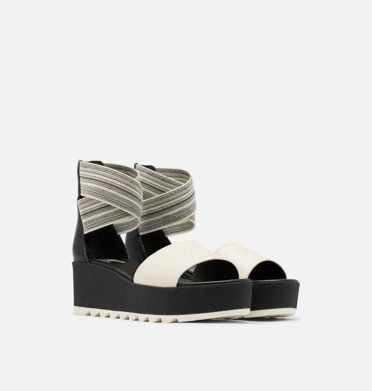 CAMERON™ FLATFORM  ANKLE STRAP | 010 | 8 Womens Cameron™ Flatform Ankle Strap Wedge Sandal, Black, Gore, 3/4 front