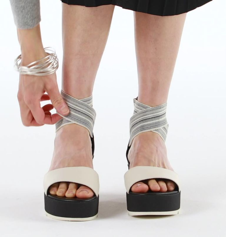 CAMERON™ FLATFORM  ANKLE STRAP   010   12 Womens Cameron™ Flatform Ankle Strap Wedge Sandal, Black, Gore, video