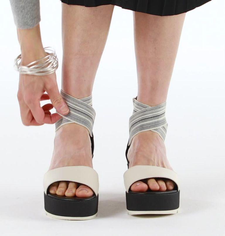 CAMERON™ FLATFORM  ANKLE STRAP | 010 | 8 Womens Cameron™ Flatform Ankle Strap Wedge Sandal, Black, Gore, video