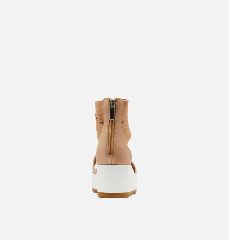 CAMERON™ FLATFORM ANKLE STRAP | 246 | 12 Womens Cameron™ Flatform Ankle Strap Wedge Sandal, Honest Beige, back