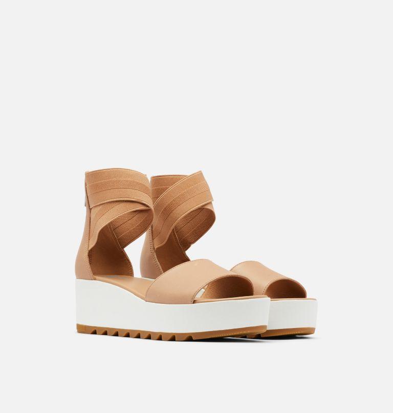CAMERON™ FLATFORM ANKLE STRAP | 246 | 12 Womens Cameron™ Flatform Ankle Strap Wedge Sandal, Honest Beige, 3/4 front