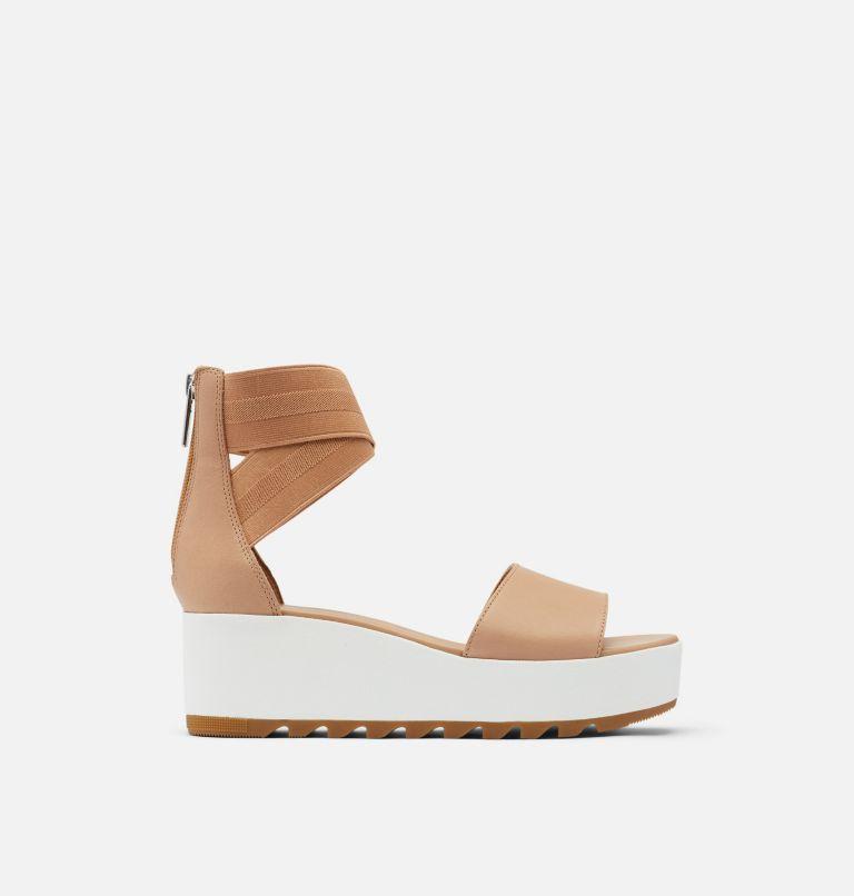 CAMERON™ FLATFORM ANKLE STRAP | 246 | 12 Womens Cameron™ Flatform Ankle Strap Wedge Sandal, Honest Beige, front