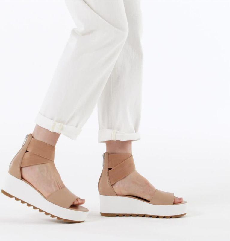 CAMERON™ FLATFORM ANKLE STRAP | 246 | 12 Womens Cameron™ Flatform Ankle Strap Wedge Sandal, Honest Beige, video