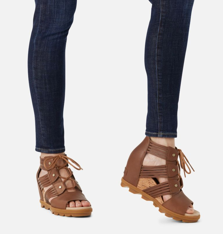 JOANIE™ II LACE HUARACHE | 242 | 9.5 Womens Joanie™ II Lace Huarache Wedge Sandal, Velvet Tan, a9