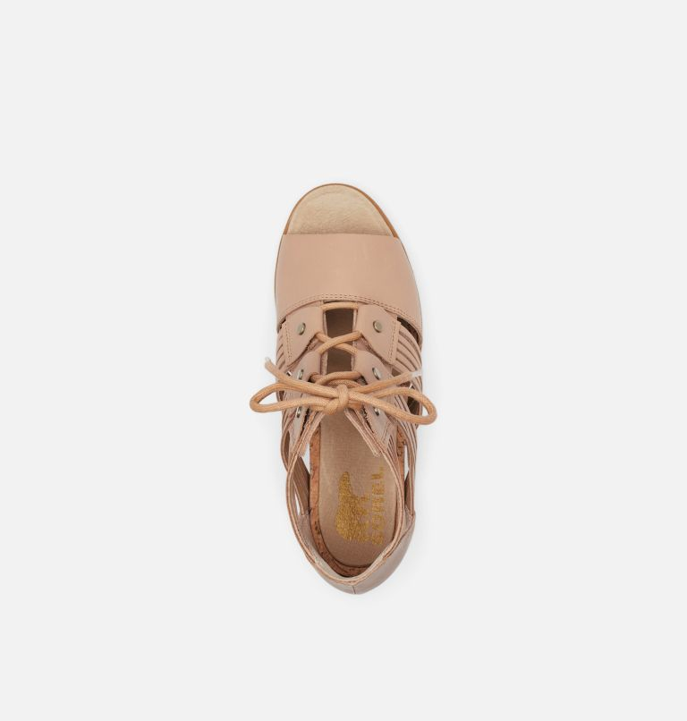 JOANIE™ II LACE HUARACHE | 246 | 6.5 Womens Joanie™ II Lace Huarache Wedge Sandal, Honest Beige, top
