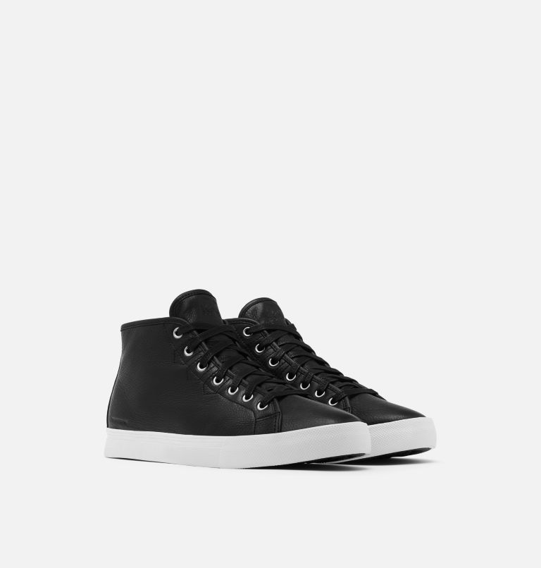 CARIBOU™ SNEAKER CHUKKA WP | 010 | 11.5 Mens Caribou™Chukka Sneaker WP, Black, White, 3/4 front