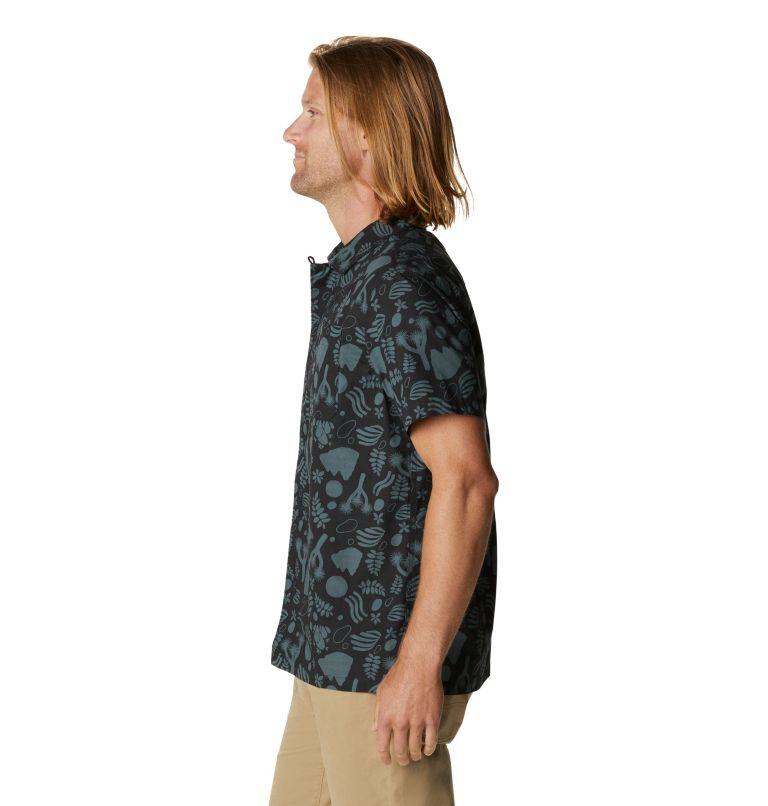 Camp M SS Shirt | 004 | XL Men's Camp Short Sleeve Shirt, Dark Storm J Tree Print, a1