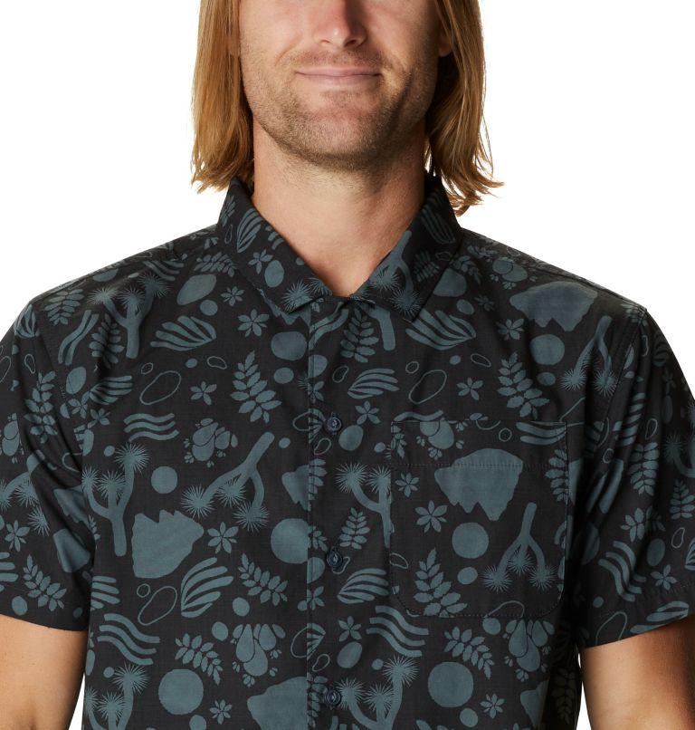 Camp M SS Shirt | 004 | XL Men's Camp Short Sleeve Shirt, Dark Storm J Tree Print, a2