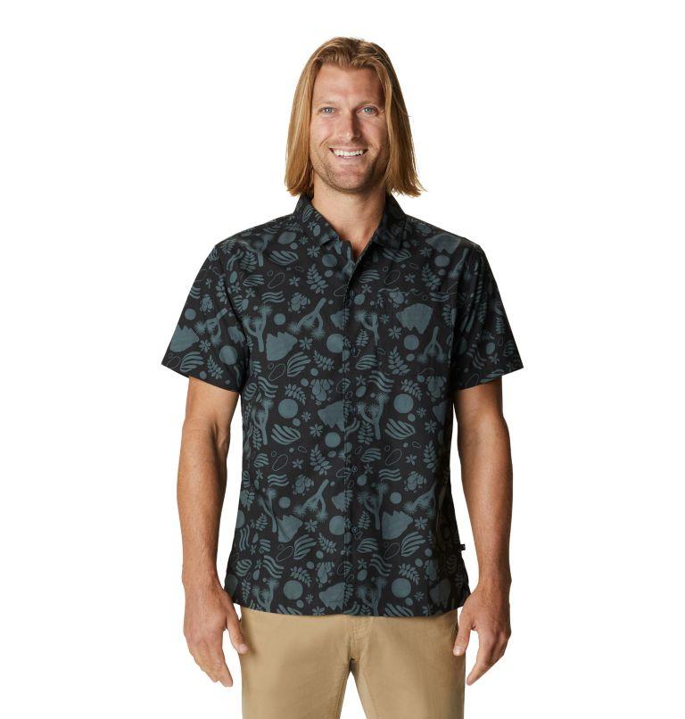 Camp M SS Shirt | 004 | XL Men's Camp Short Sleeve Shirt, Dark Storm J Tree Print, front
