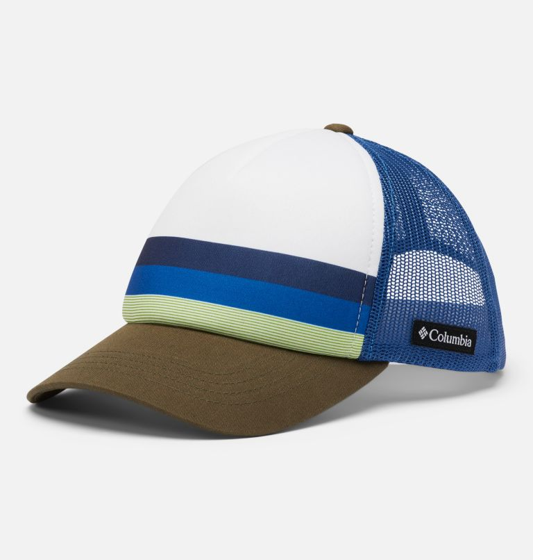 Youth Trucker™   432   O/S Youth Trucker™ Hat, Bright Indigo, Stripe, front