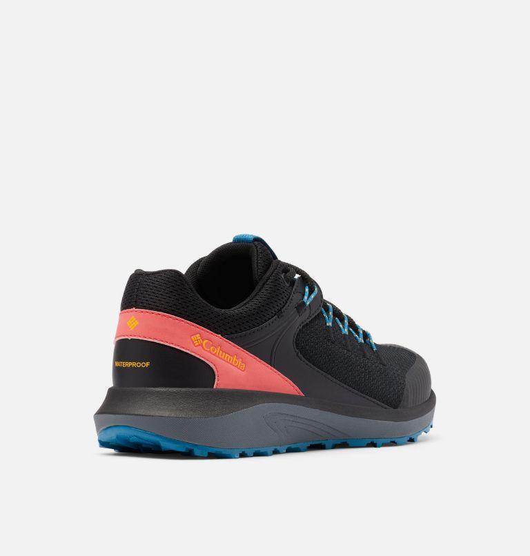 TRAILSTORM™ WATERPROOF | 010 | 5 Women's Trailstorm™ Waterproof Shoe, Black, Bright Marigold, 3/4 back