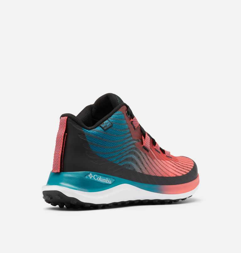 ESCAPE™ SUMMIT OUTDRY™ | 633 | 10 Women's Escape™ Summit OutDry™ Trail Shoe, Red Coral, White, 3/4 back