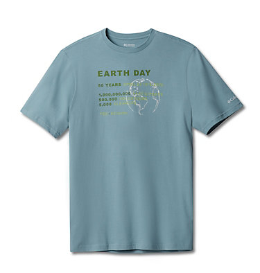 Men's Columbia Earth Day Tee Columbia Earth Day Tee | 023 | L, Stone Blue, front