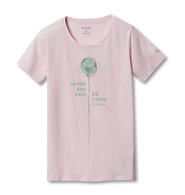 Women's Columbia Earth Day T-Shirt Columbia Earth Day Tee | 031 | L, Whitened Pink, front