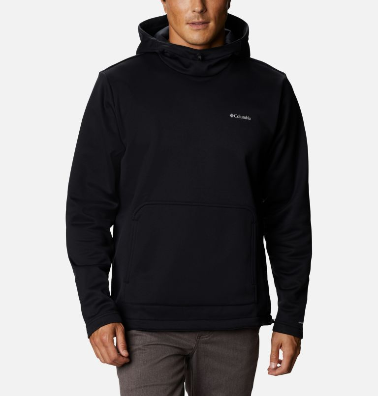 M Out-Shield™ Dry Fleece Hoodie | 010 | S Men's Out-Shield™ Dry Fleece Hoodie, Black, front