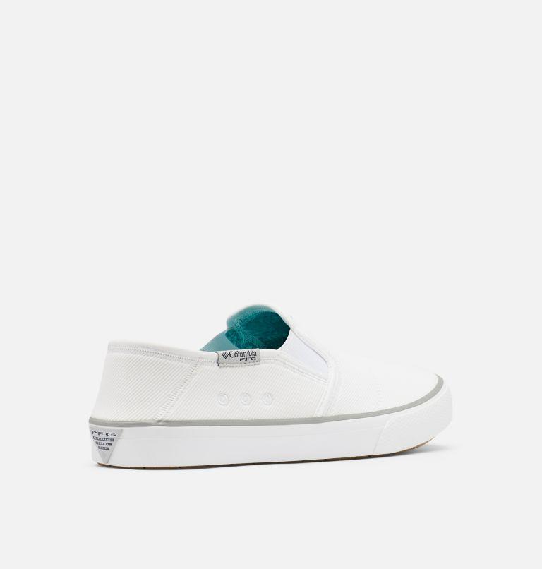 SLACK TIDE™ SLIP PFG | 100 | 8 Men's PFG Slack Tide™ Slip Shoe, White, Steam, 3/4 back