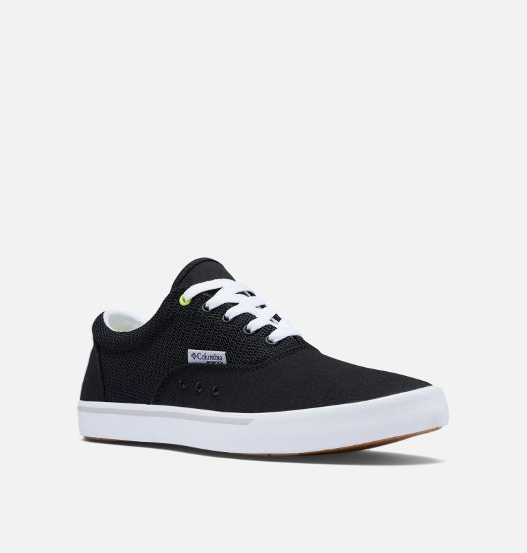 SLACK TIDE™ LACE PFG | 010 | 7.5 Men's PFG Slack Tide™ Lace Shoe, Black, White, 3/4 front
