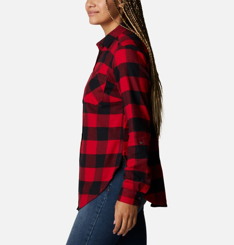 Anytime™ Stretch LS Shirt | 613 | XL Women's Anytime™ Stretch Long Sleeve Shirt, Mountain Red Buffalo Check, a1