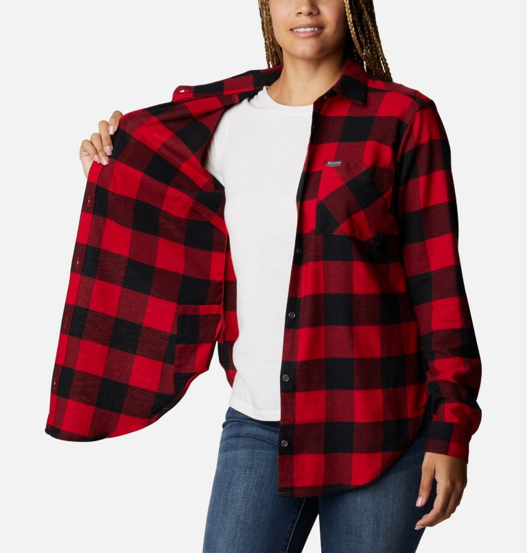 Anytime™ Stretch LS Shirt | 613 | XL Women's Anytime™ Stretch Long Sleeve Shirt, Mountain Red Buffalo Check, a3