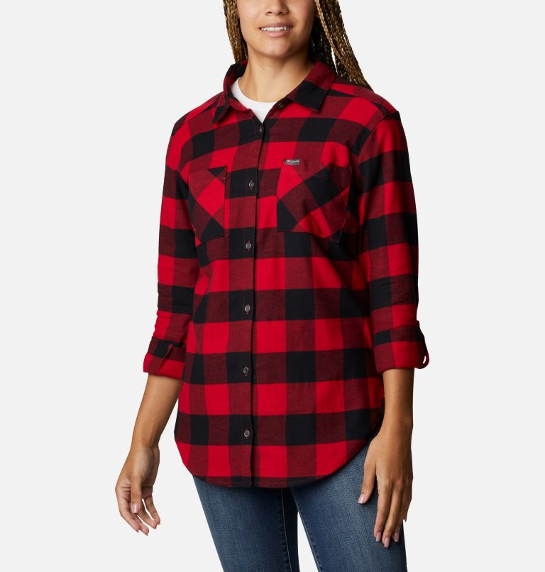 Anytime™ Stretch LS Shirt | 613 | XL Women's Anytime™ Stretch Long Sleeve Shirt, Mountain Red Buffalo Check, a5