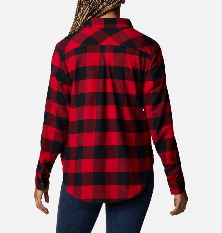 Anytime™ Stretch LS Shirt | 613 | XL Women's Anytime™ Stretch Long Sleeve Shirt, Mountain Red Buffalo Check, back