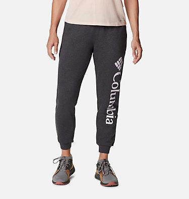 Women's Columbia™ Logo Fleece Joggers Columbia™ Logo Fleece Jogger | 397 | L, Shark Heather, front