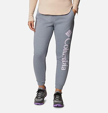 Women's Columbia™ Logo Fleece Joggers Columbia™ Logo Fleece Jogger | 397 | L, Tradewinds Grey Heather, front