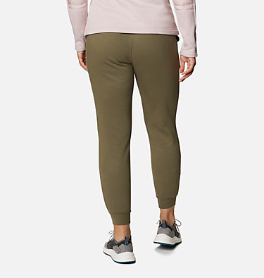 Women's Columbia™ Logo Fleece Joggers Columbia™ Logo Fleece Jogger | 397 | L, Stone Green, back