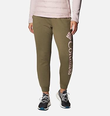 Women's Columbia™ Logo Fleece Joggers Columbia™ Logo Fleece Jogger | 397 | L, Stone Green, front