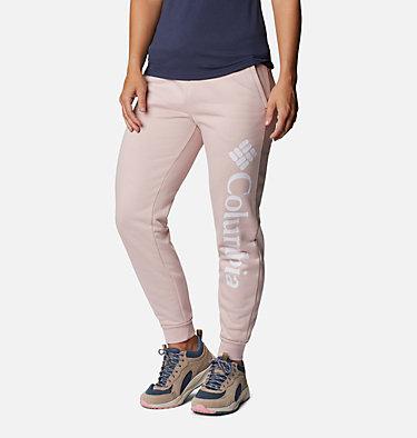 Women's Columbia™ Logo Fleece Joggers Columbia™ Logo Fleece Jogger | 397 | L, Mineral Pink, front