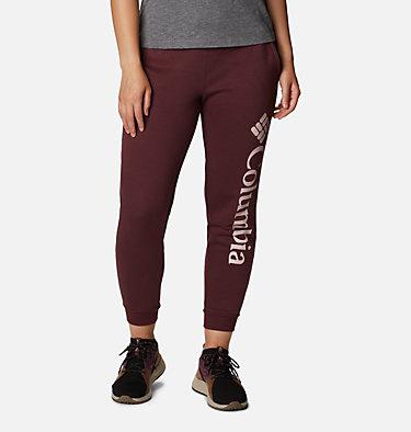 Women's Columbia™ Logo Fleece Joggers Columbia™ Logo Fleece Jogger | 397 | L, Malbec, front