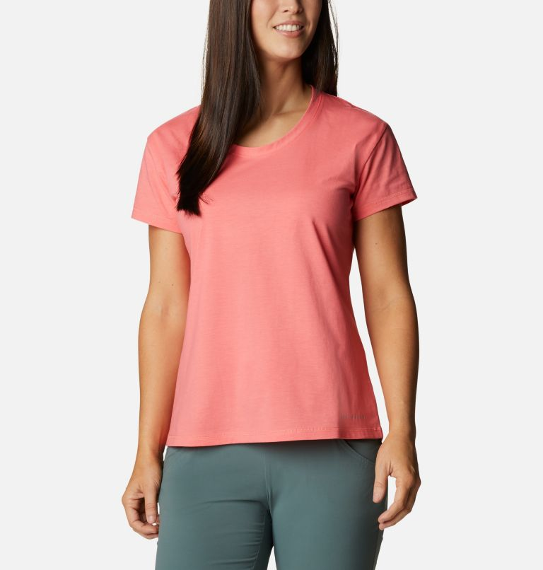 Sun Trek™ SS Tee | 699 | S Women's Sun Trek™ T-Shirt, Salmon, front