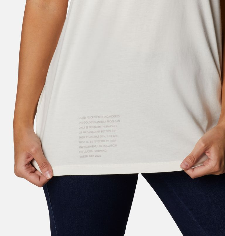Earth Day Graphic Tee | 102 | M Women's Earth Day Organic Cotton T-Shirt, Natural White, Love the Frog, a3