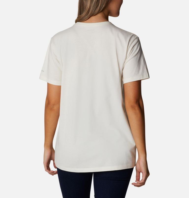 Earth Day Graphic Tee | 102 | M Women's Earth Day Organic Cotton T-Shirt, Natural White, Love the Frog, back