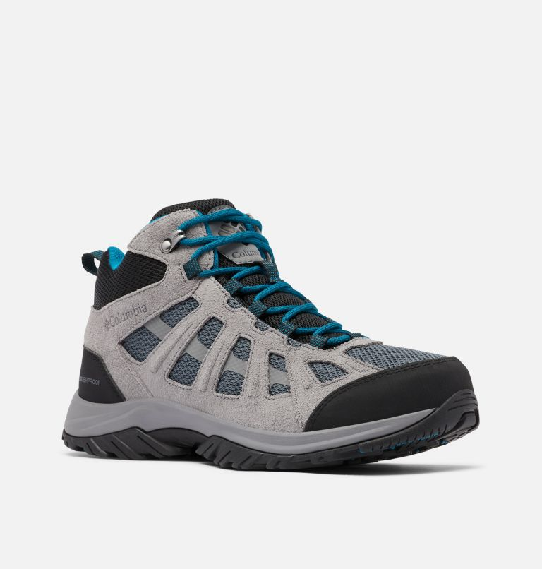 REDMOND™ III MID WATERPROOF WIDE | 053 | 9 Men's Redmond™ III Mid Waterproof Hiking Shoe - Wide, Graphite, Black, 3/4 front