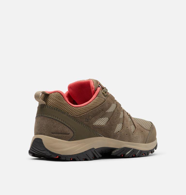 REDMOND™ III WATERPROOF | 227 | 8.5 Women's Redmond™ III Waterproof Hiking Shoe, Pebble, Red Coral, 3/4 back