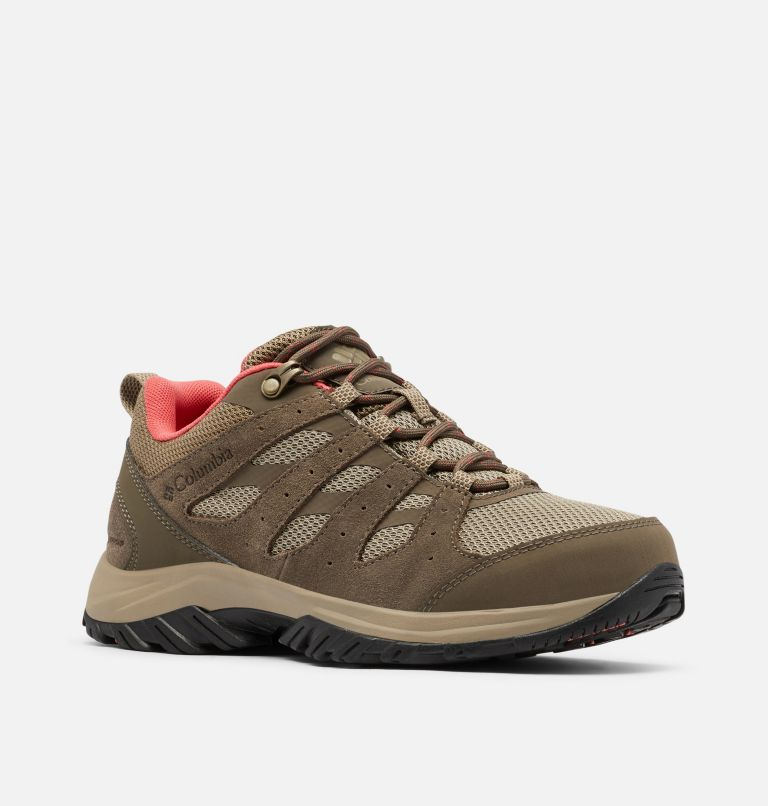 REDMOND™ III WATERPROOF | 227 | 8.5 Women's Redmond™ III Waterproof Hiking Shoe, Pebble, Red Coral, 3/4 front