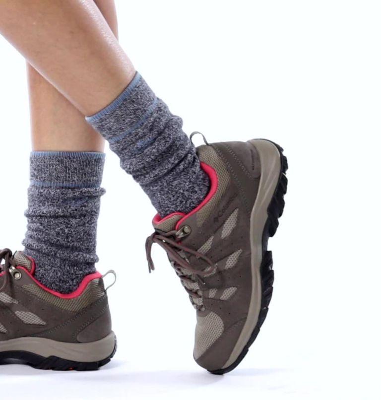 REDMOND™ III WATERPROOF | 227 | 8.5 Women's Redmond™ III Waterproof Hiking Shoe, Pebble, Red Coral, video