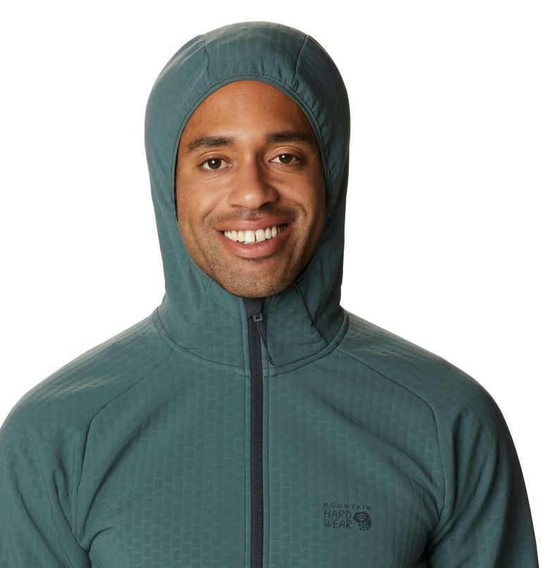 Keele™ Grid Hoody | 352 | M Men's Keele™ Grid Full Zip Hoody, Black Spruce, a2
