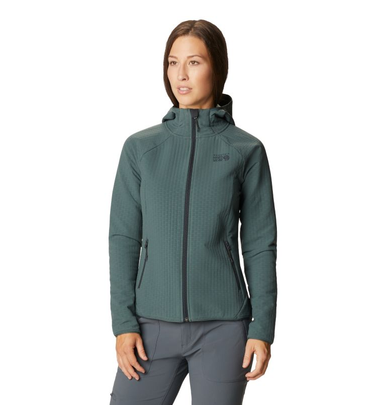 Women's Keele Grid Full Zip Hoody Women's Keele Grid Full Zip Hoody, front