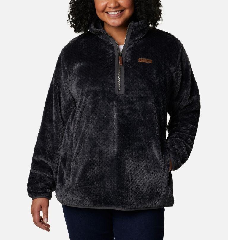 Chandail avec fermeture éclair 1/4 en laine polaire Sherpa Fire Side™ pour femme - Grandes tailles Chandail avec fermeture éclair 1/4 en laine polaire Sherpa Fire Side™ pour femme - Grandes tailles, front