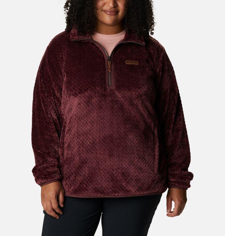 Women's Fire Side™ Quarter Zip Sherpa Fleece - Plus Size Women's Fire Side™ Quarter Zip Sherpa Fleece - Plus Size, front