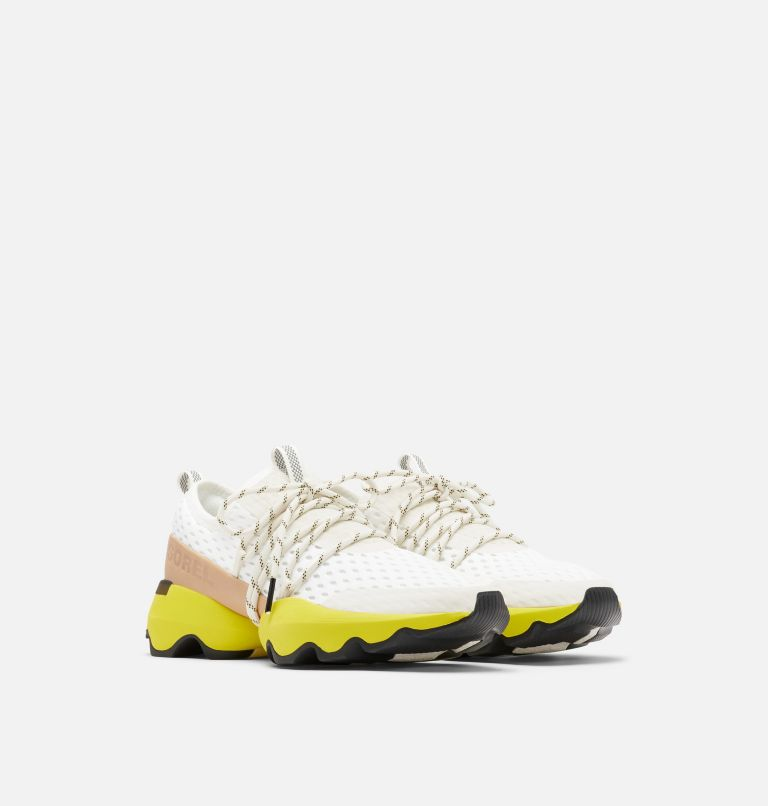 KINETIC™ IMPACT LACE | 126 | 6.5 Womens Kinetic™ Impact Lace Sneaker, Sea Salt, Yellow, 3/4 front