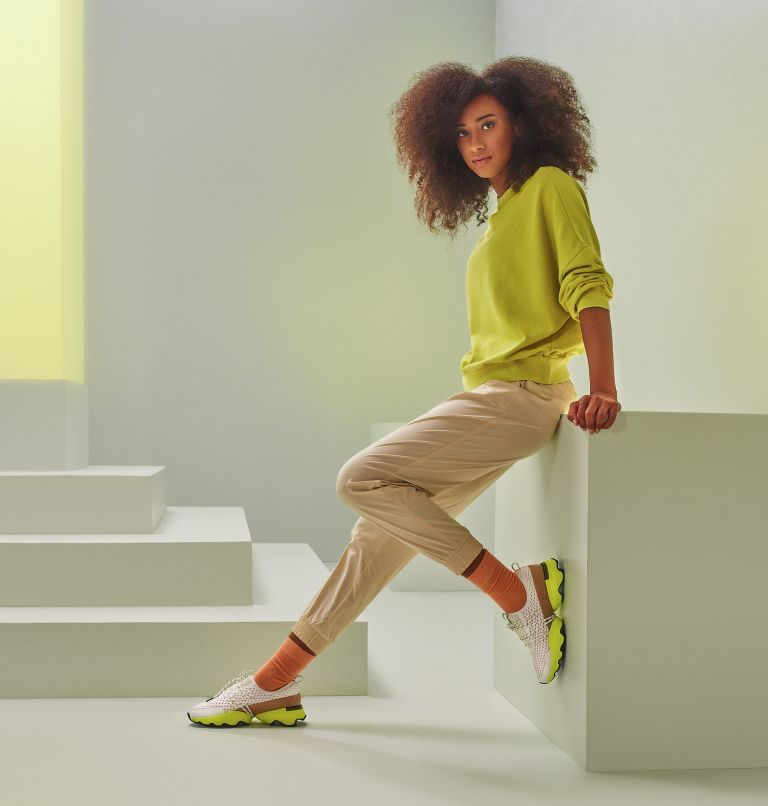 KINETIC™ IMPACT LACE | 126 | 7 Kinetic™ Impact Lace Sneaker für Frauen, Sea Salt, Yellow