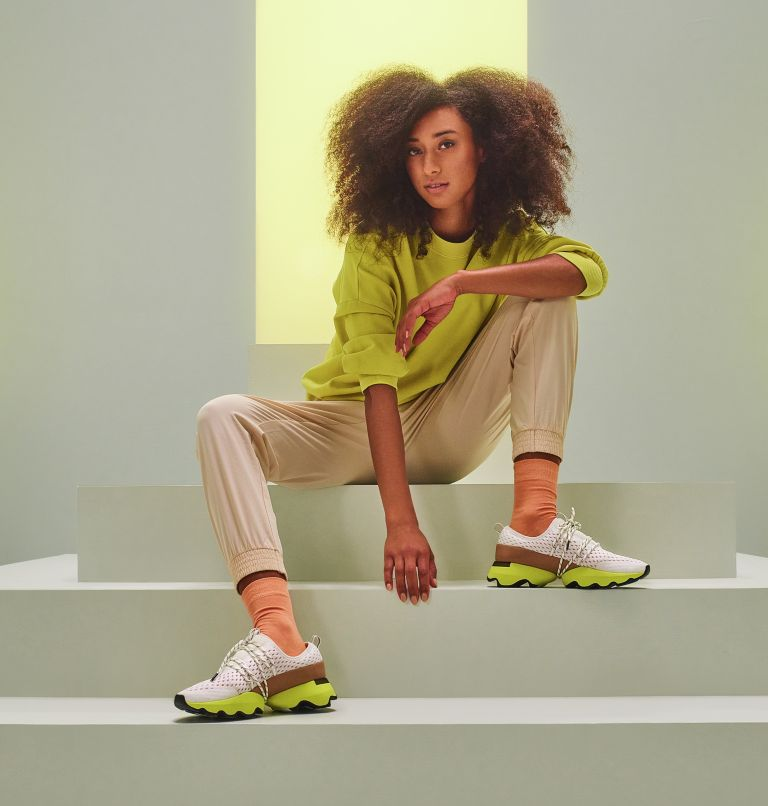 KINETIC™ IMPACT LACE | 126 | 6.5 Womens Kinetic™ Impact Lace Sneaker, Sea Salt, Yellow