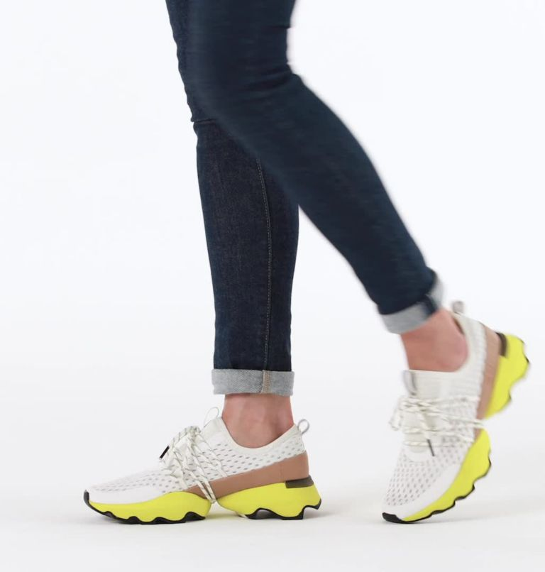 KINETIC™ IMPACT LACE | 126 | 6.5 Womens Kinetic™ Impact Lace Sneaker, Sea Salt, Yellow, video