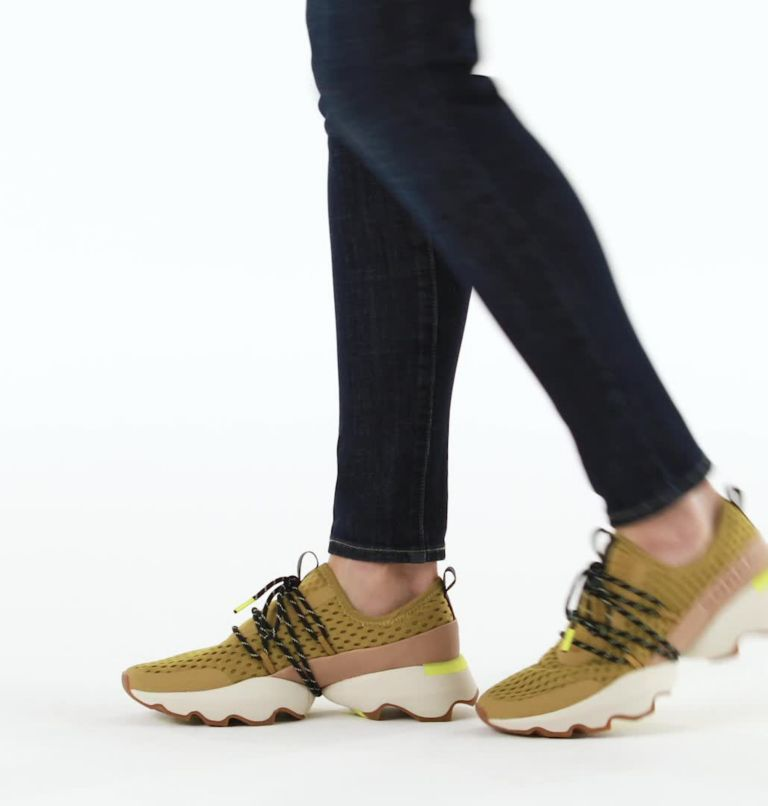 KINETIC™ IMPACT LACE | 236 | 8.5 Womens Kinetic™ Impact Lace Sneaker, Dioxide Gold, video