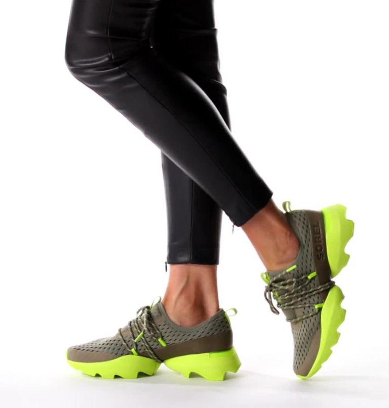 KINETIC™ IMPACT LACE | 365 | 7 Women's Kinetic™ Impact Lace Sneaker, Sage, Acid Green, video