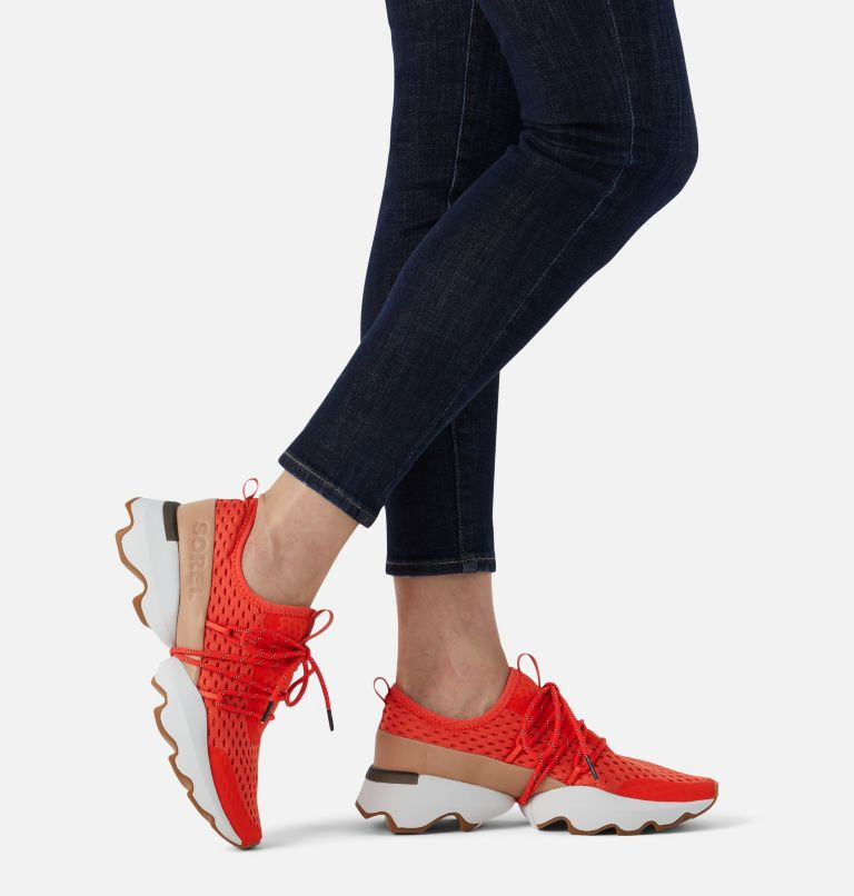 KINETIC™ IMPACT LACE | 854 | 9 Womens Kinetic™ Impact Lace Sneaker, Signal Red, a9